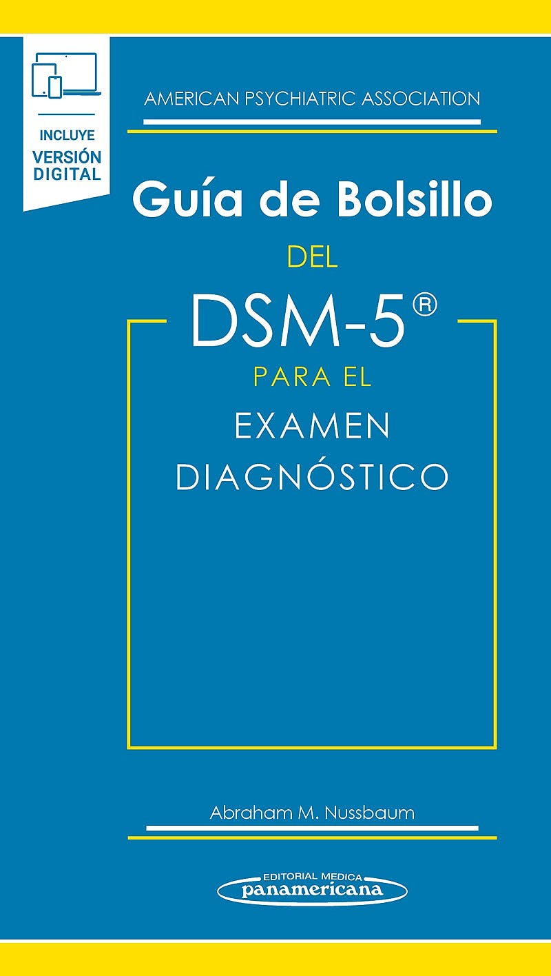 Portada del libro 9788491106708 Guía de Bolsillo del DSM-5 para el Examen Diagnóstico (Libro + versión digital)