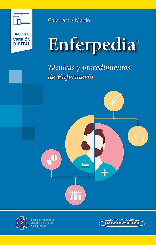 Portada del libro 9788491107415 ENFERPEDIA. Técnicas y Procedimientos de Enfermería (Incluye Versión Digital)