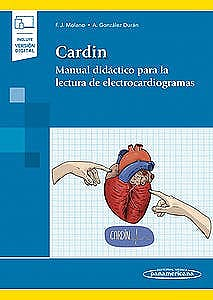 Portada del libro 9788491107989 CARDIN Manual Didáctico para la Lectura de Electrocardiogramas (Incluye Versión Digital)