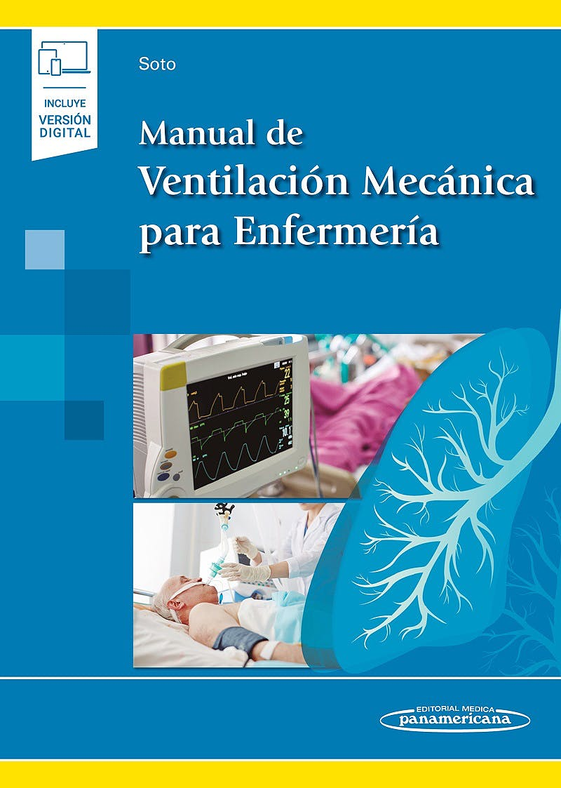Portada del libro 9788491108146 Manual de Ventilación Mecánica para Enfermería (Incluye Versión Digital)