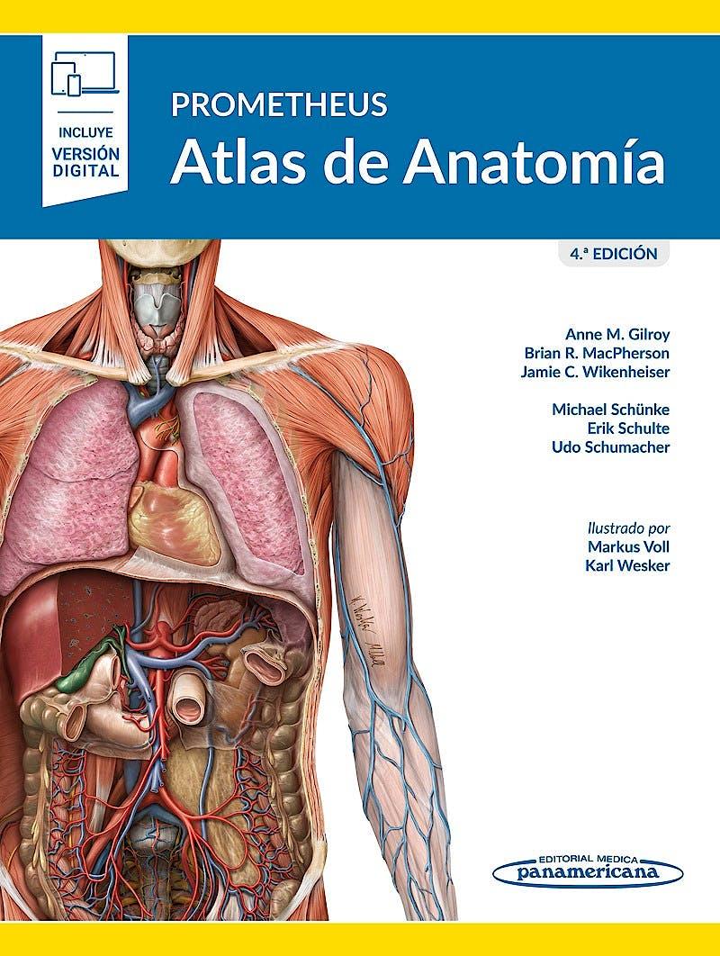 Portada del libro 9788491108450 PROMETHEUS Atlas de Anatomía