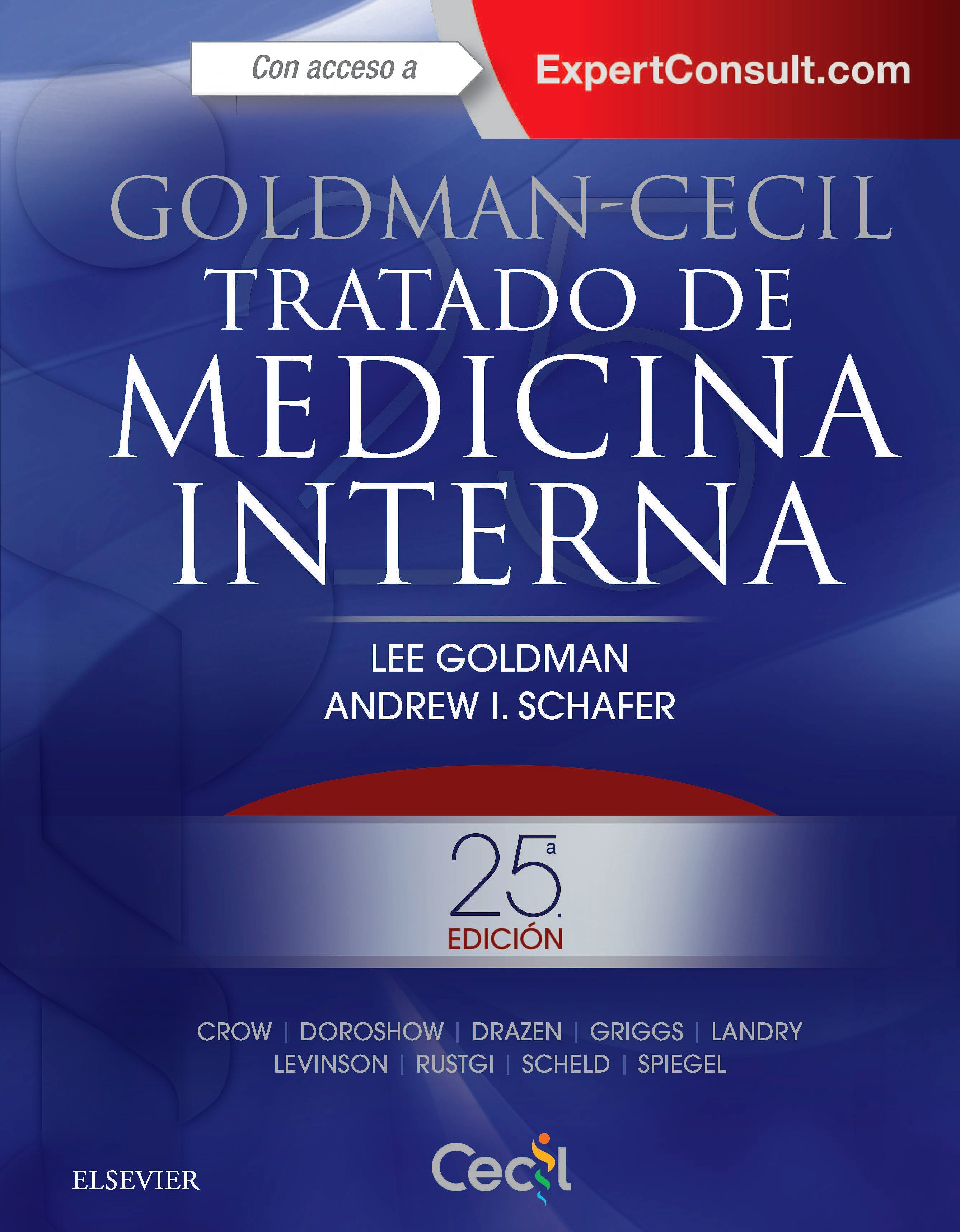 Portada del libro 9788491130338 Goldman-Cecil Tratado de Medicina Interna, 2 Vols.