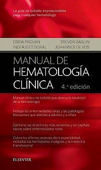 Portada del libro 9788491131366 Manual de Hematología Clínica