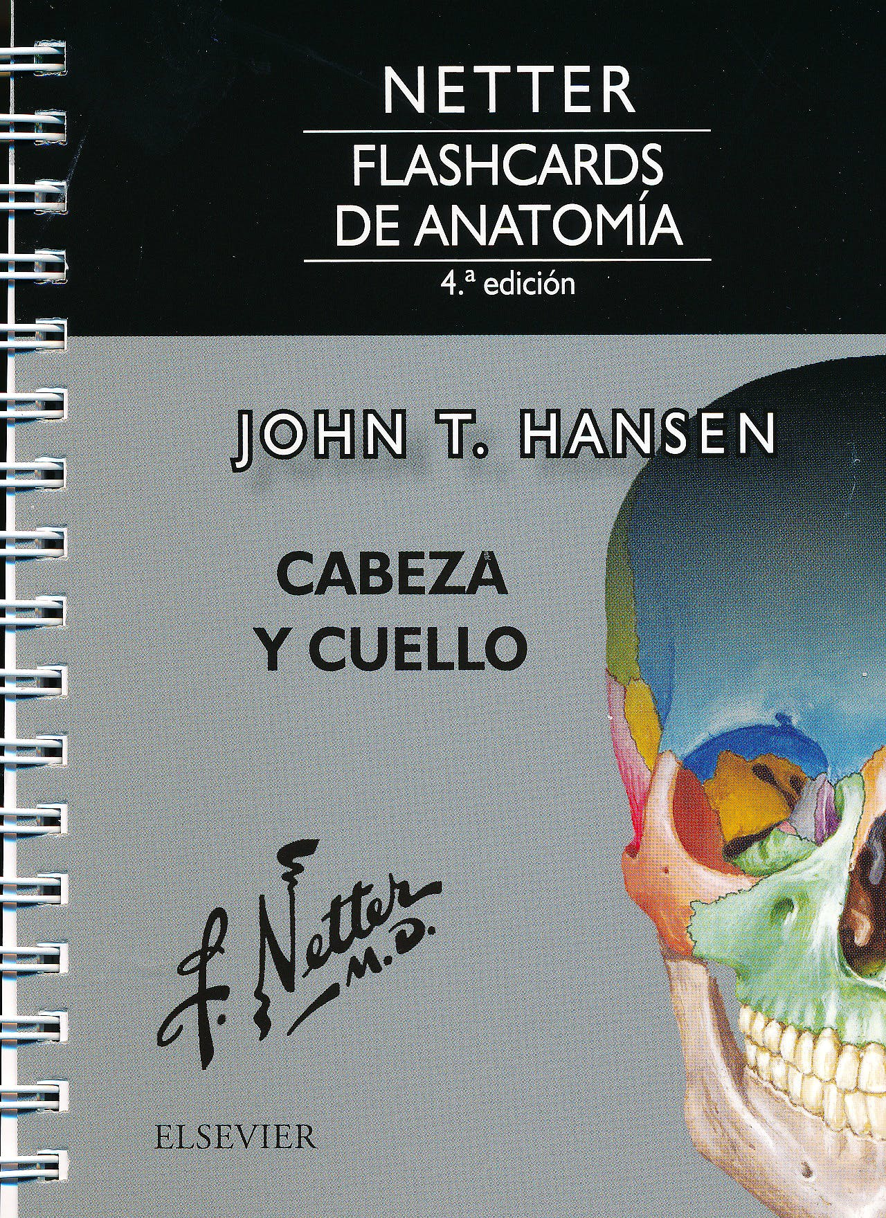 Portada del libro 9788491132929 Fichas de Autoevaluación Netter Flashcards de Anatomía: Cabeza y Cuello