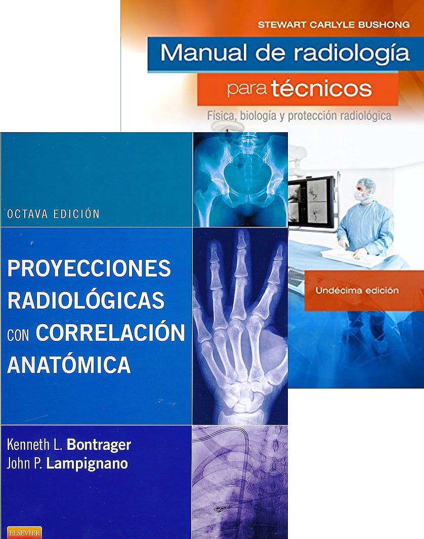 Portada del libro 9788491133308 Lote Proyecciones Radiológicas con Correlación Anatómica + Manual de Radiología para Técnicos