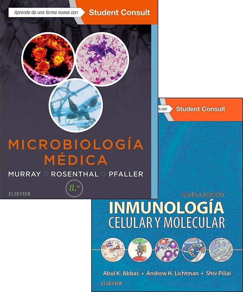 Portada del libro 9788491134466 Lote Inmunología Celular y Molecular + Microbiología Médica