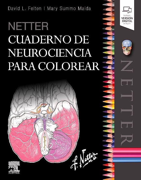 Portada del libro 9788491134572 Netter Cuaderno de Neurociencia para Colorear (Incluye Versión Digital en Inglés)