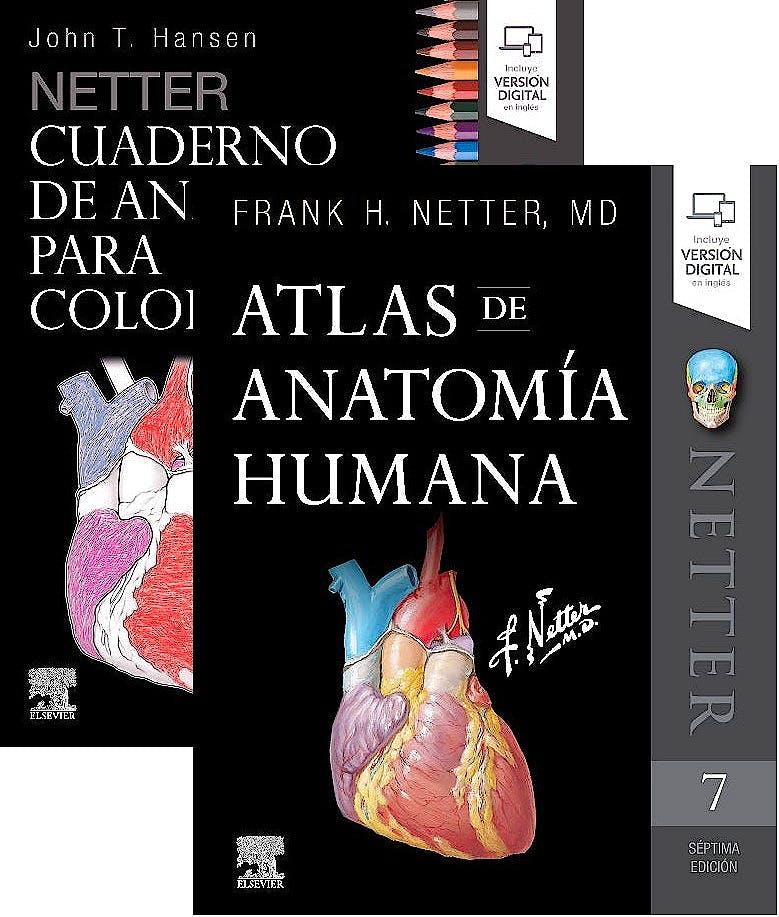Portada del libro 9788491136149 Lote Netter Cuaderno de Anatomía para Colorear + Netter Atlas de Anatomía Humana