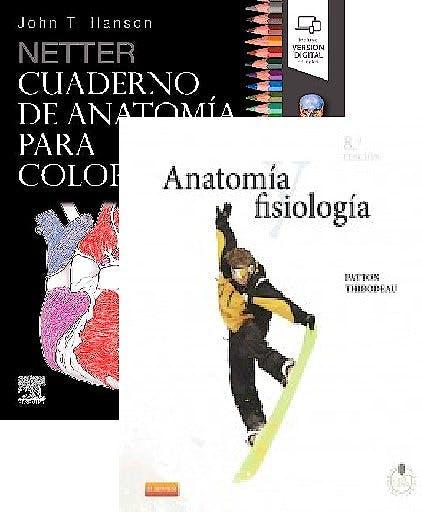 Portada del libro 9788491136224 Lote Netter Cuaderno de Anatomía para Colorear + Anatomía y Fisiología