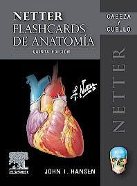 Portada del libro 9788491136521 Fichas de Autoevaluación Netter Flashcards de Anatomía: Cabeza y Cuello