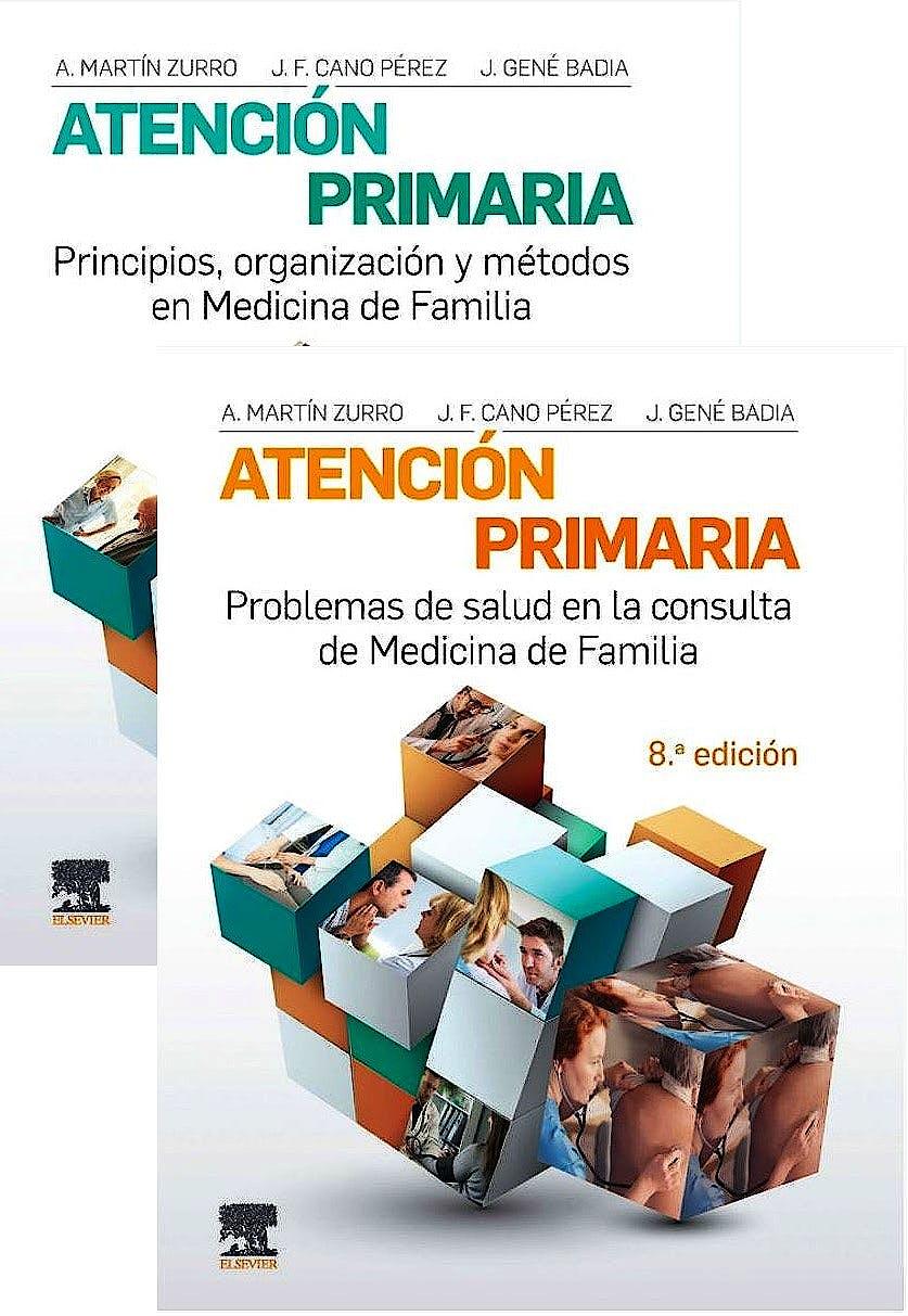 Portada del libro 9788491136897 Lote MARTÍN-ZURRO Atención Primaria: Problemas de Salud en la Consulta de Medicina de Familia + Principios, Organización y Métodos (2 Vols.)