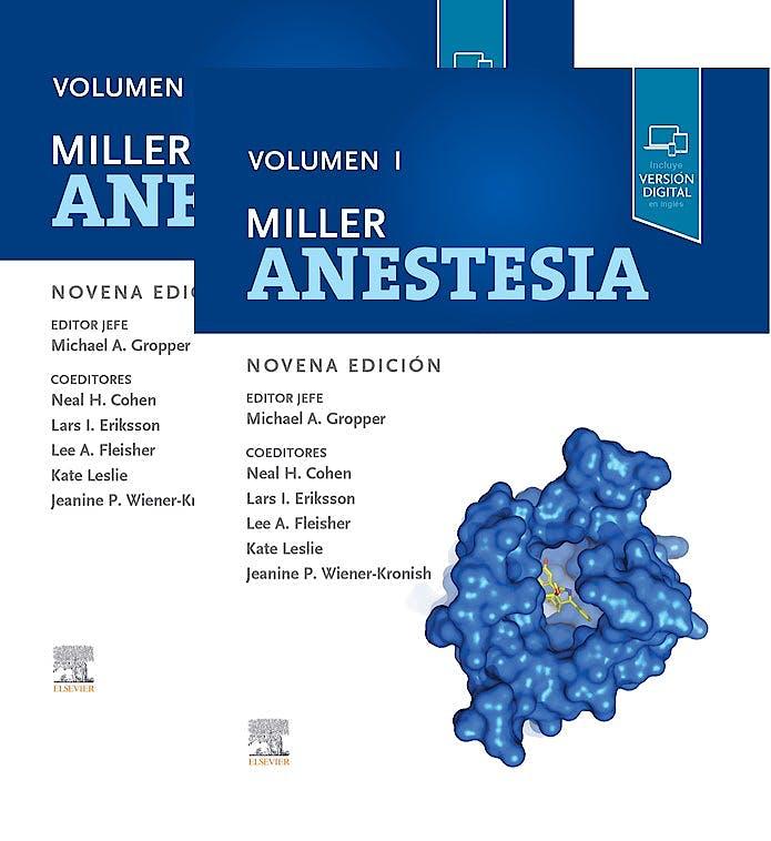 Portada del libro 9788491137368 MILLER Anestesia, 2 Vols.