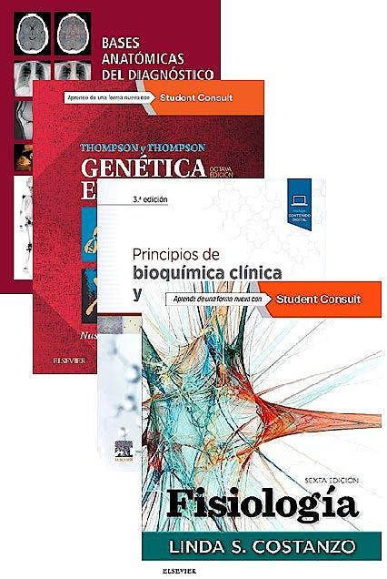 Portada del libro 9788491137566 Lote Fisiología + Bases Anatómicas del Diagnóstico por Imagen + Principios de Bioquímica Clínica + Thompson y Thompson Genética en Medicina