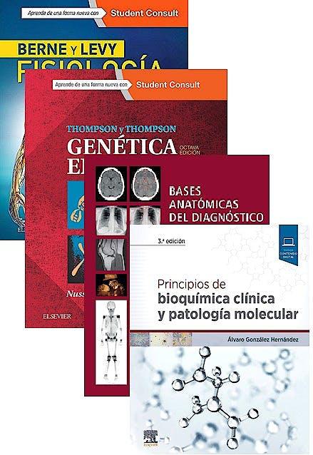 Portada del libro 9788491137573 Lote Bases Anatómicas Diagnóstico por Imagen + Principios de Bioquímica Clínica + Berne y Levy Fisiología + Thompson y Thompson Genética en Medicina