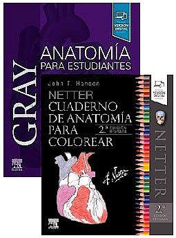 Portada del libro 9788491138594 Lote Gray Anatomía para Estudiantes + Netter Cuaderno de Anatomía para Colorear