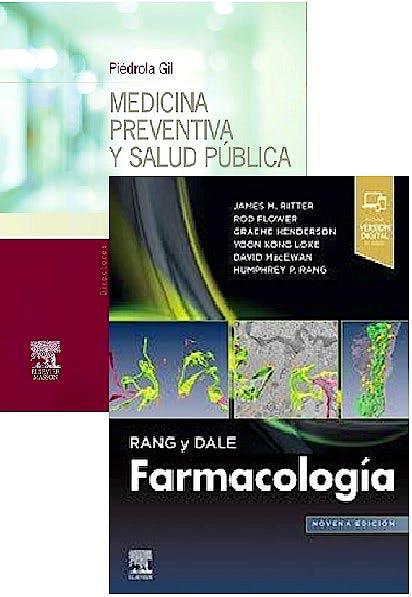 Portada del libro 9788491138662 Lote Piédrola Gil Medicina Preventiva y Salud Pública + Rang y Dale Farmacología