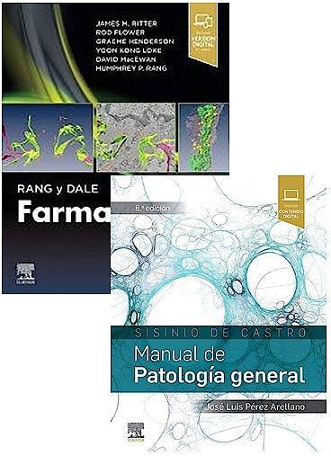 Portada del libro 9788491138716 Lote Sisinio de Castro Manual de Patología General + Rang y Dale Farmacología