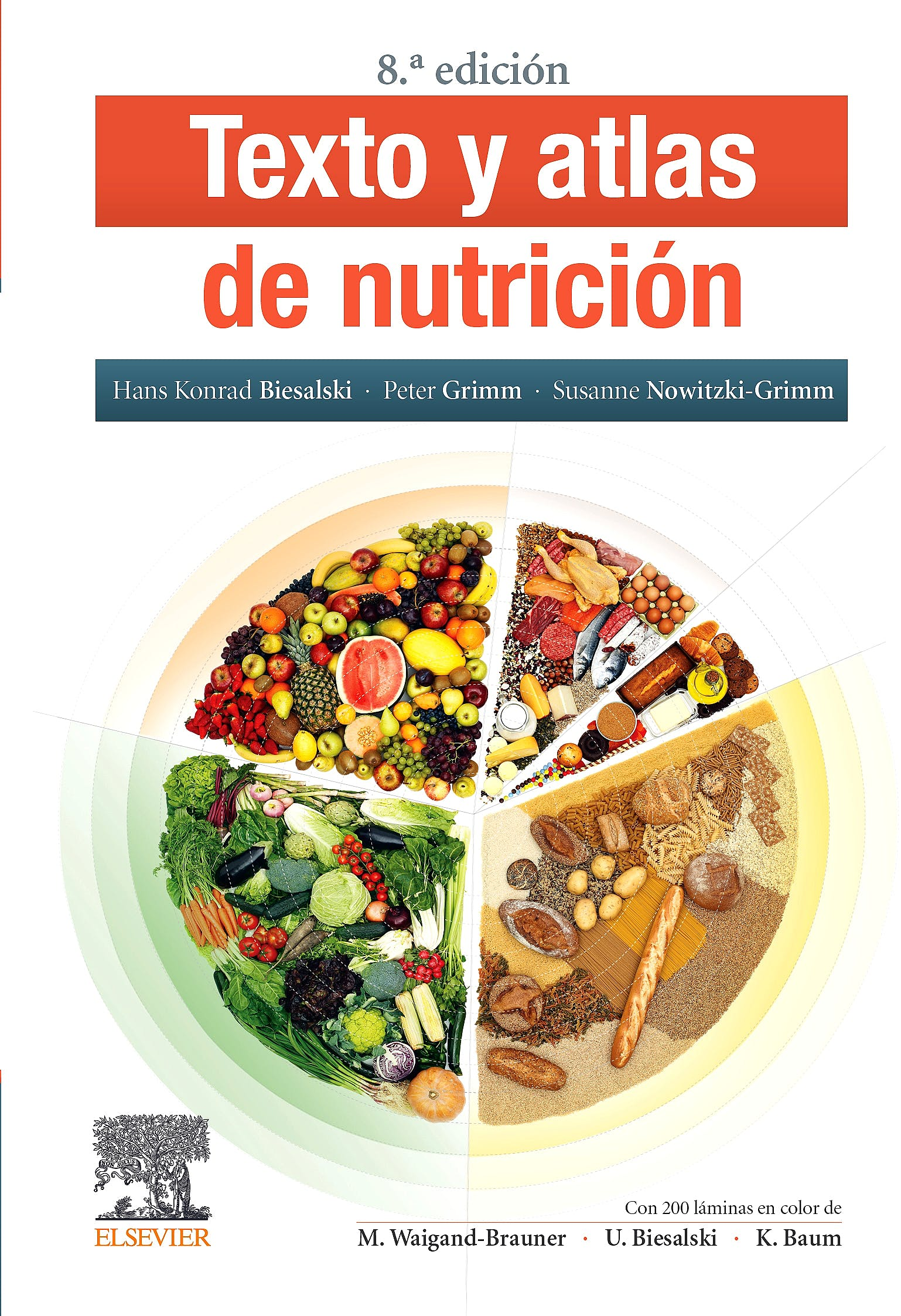 Portada del libro 9788491138815 Texto y Atlas de Nutrición