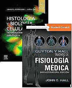 Portada del libro 9788491139270 Lote GUYTON y HALL Tratado de Fisiología Médica + Histología y Biología Celular