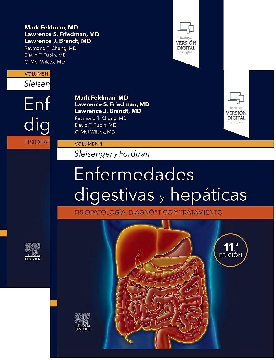Portada del libro 9788491139492 SLEISENGER y FORDTRAN Enfermedades Digestivas y Hepáticas. Fisiopatología, Diagnóstico y Tratamiento, (2 Vols.)