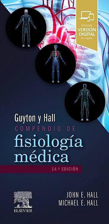 Portada del libro 9788491139546 Guyton & Hall Compendio de Fisiología Médica