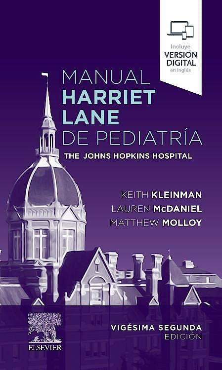 Portada del libro 9788491139676 Manual Harriet Lane de Pediatría. The Johns Hopkins Hospital
