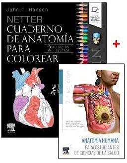 Portada del libro 9788491139966 Lote Netter Cuaderno de Anatomía para Colorear + Anatomía para Estudiantes de Ciencias de la Salud