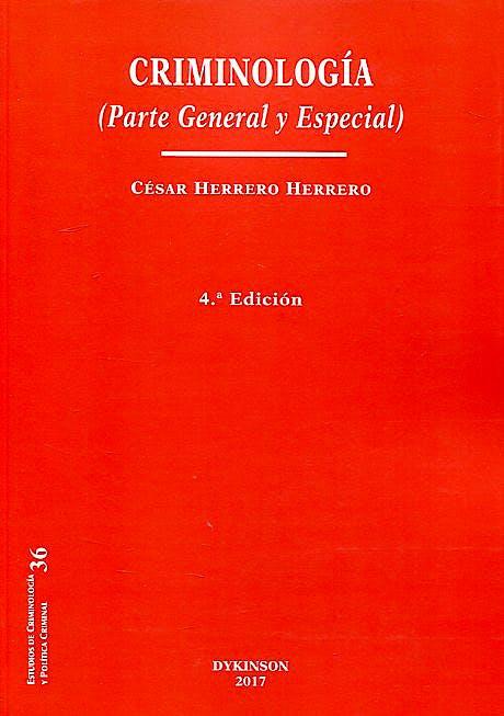 Portada del libro 9788491481966 Criminología (Parte General y Especial)