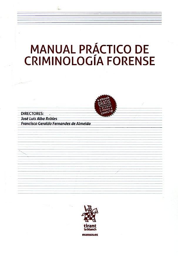 Portada del libro 9788491906834 Manual Práctico de Criminología Forense