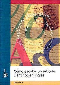 Portada del libro 9788492112425 Como Escribir un Articulo Cientifico en Ingles