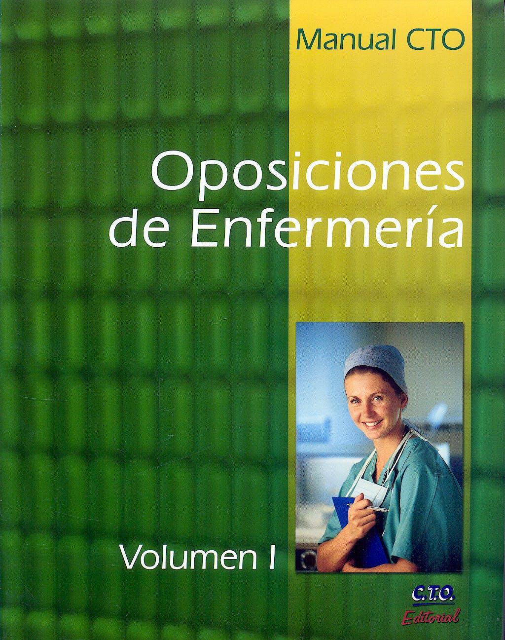 Portada del libro 9788492523009 Manual CTO Oposiciones de Enfermería, Vols. I y II
