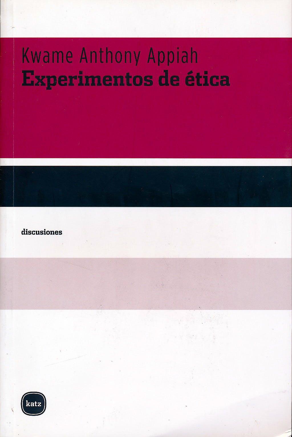 Portada del libro 9788492946112 Experimentos de Etica