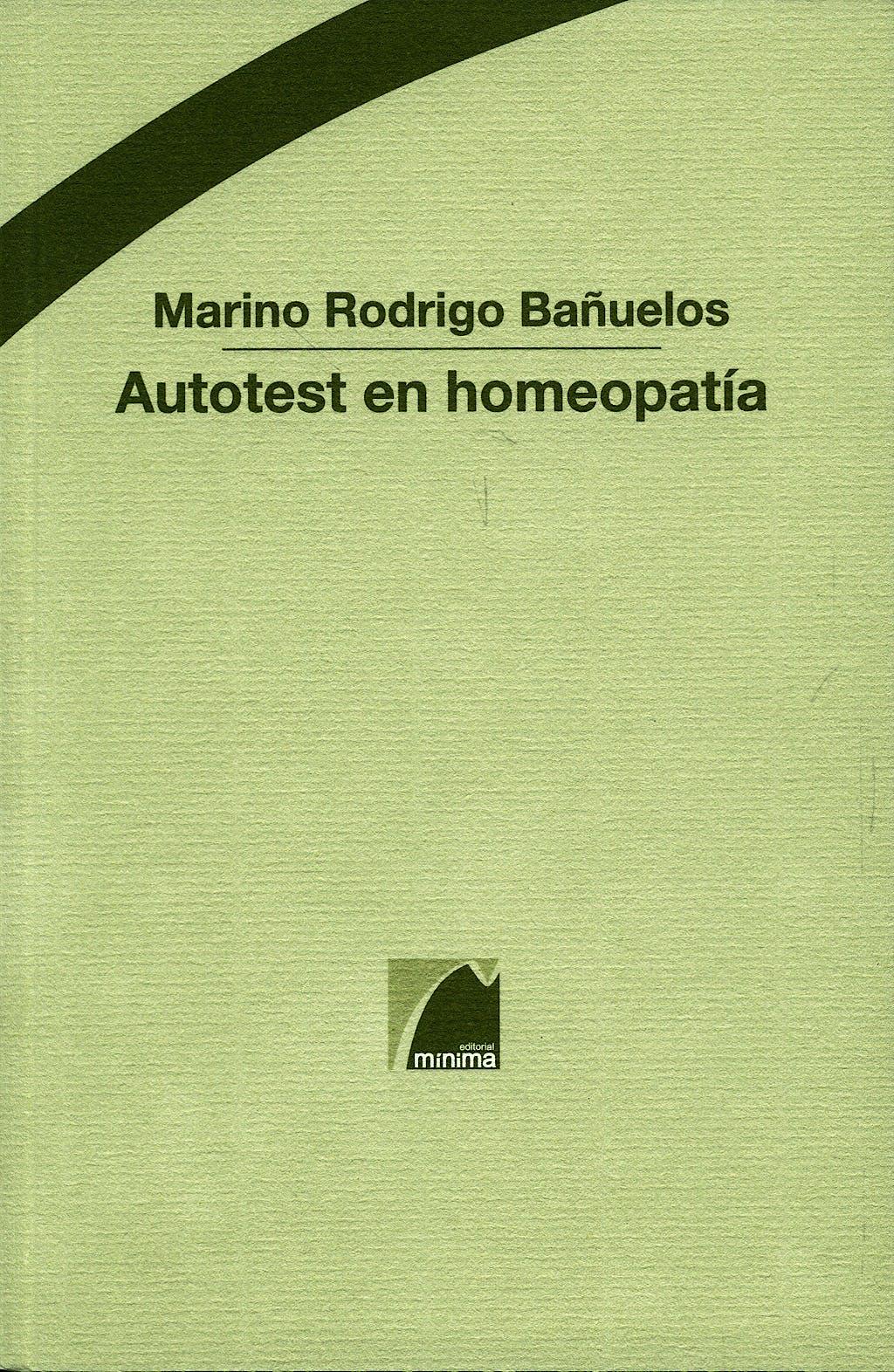 Portada del libro 9788493512057 Autotest en Homeopatia