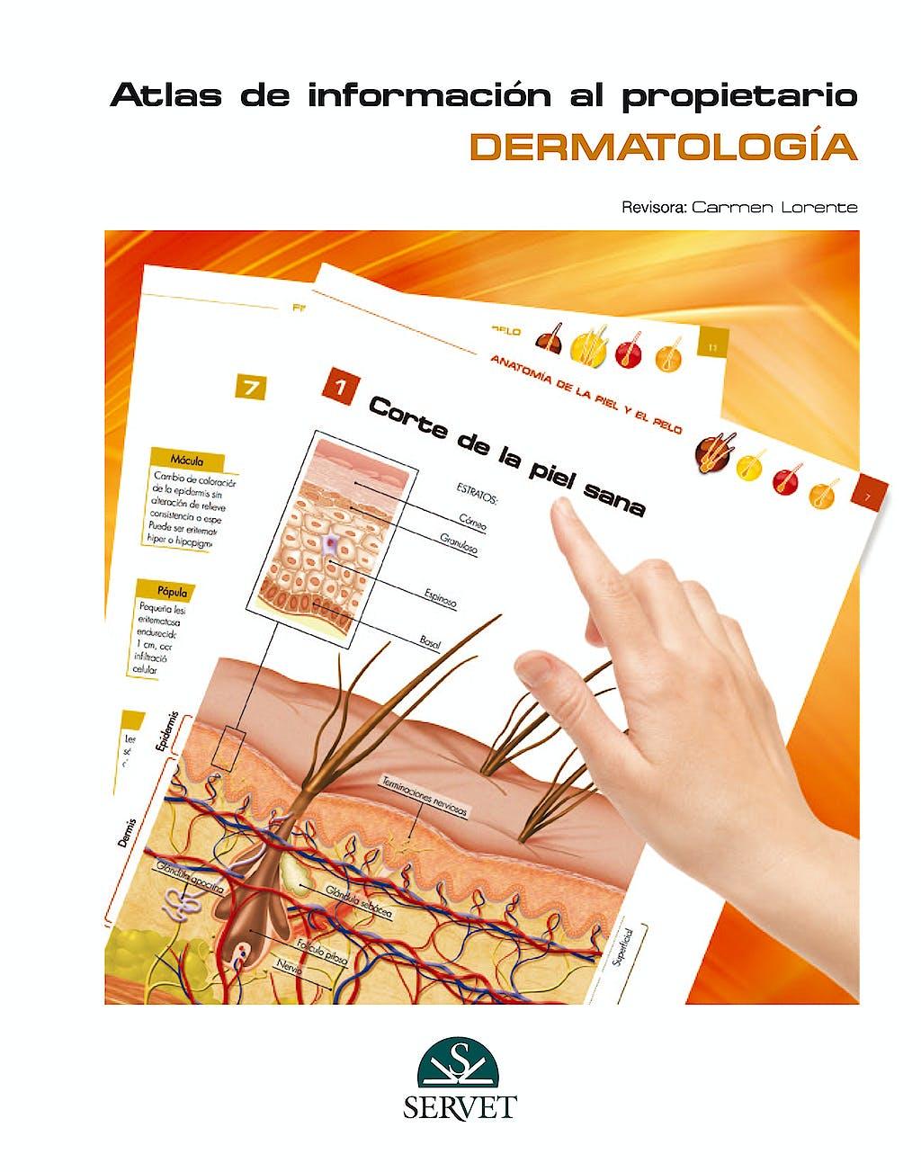 Portada del libro 9788494101441 Atlas de Informacion al Propietario. Dermatologia