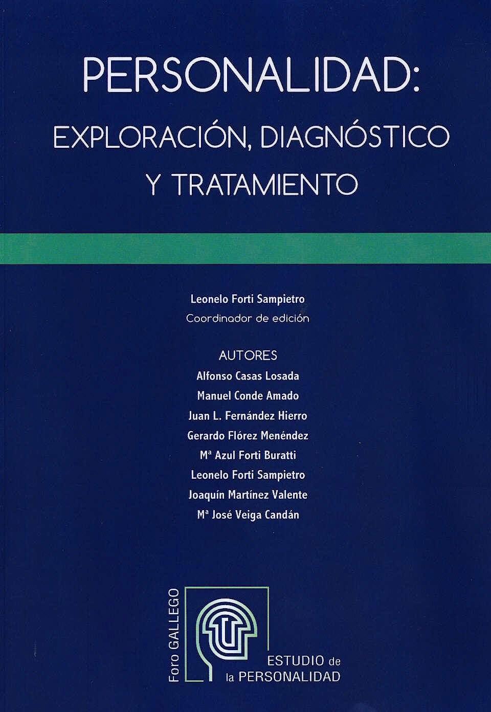 Portada del libro 9788494216510 Personalidad: Exploración, Diagnóstico y Tratamiento