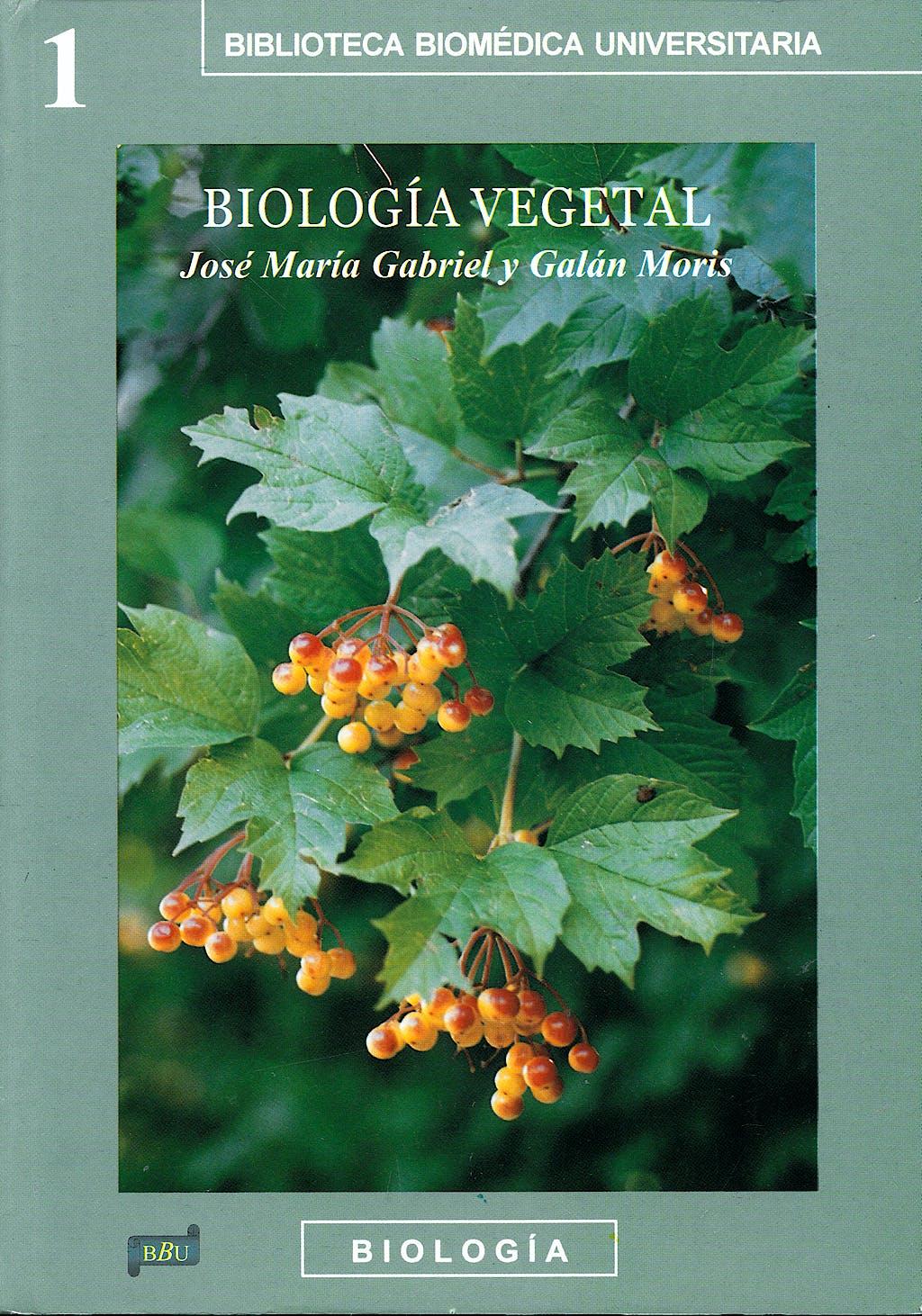 Portada del libro 9788495279590 Biologia Vegetal