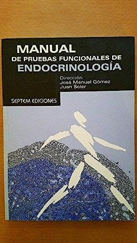 Portada del libro 9788495687371 Manual de Pruebas Funcionales de Endocrinología