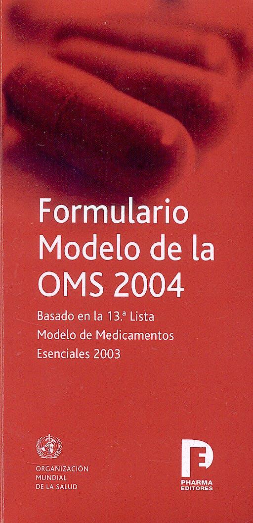 Portada del libro 9788495993052 Formulario Modelo de la Oms 2004