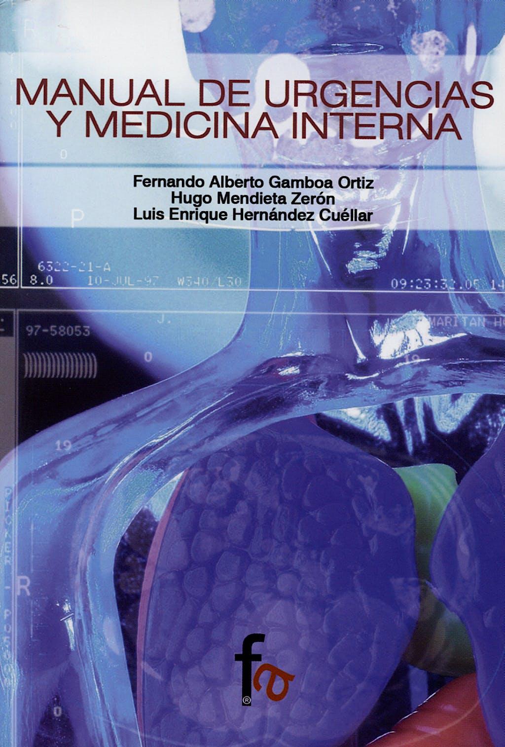 Portada del libro 9788496804104 Manual de Urgencias y Medicina Interna