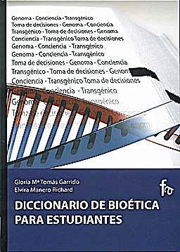 Portada del libro 9788496804838 Diccionario de Bioetica para Estudiantes