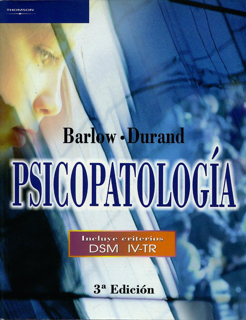Portada del libro 9788497322478 Psicopatologia. Incluye Criterios Dsm Iv-Tr