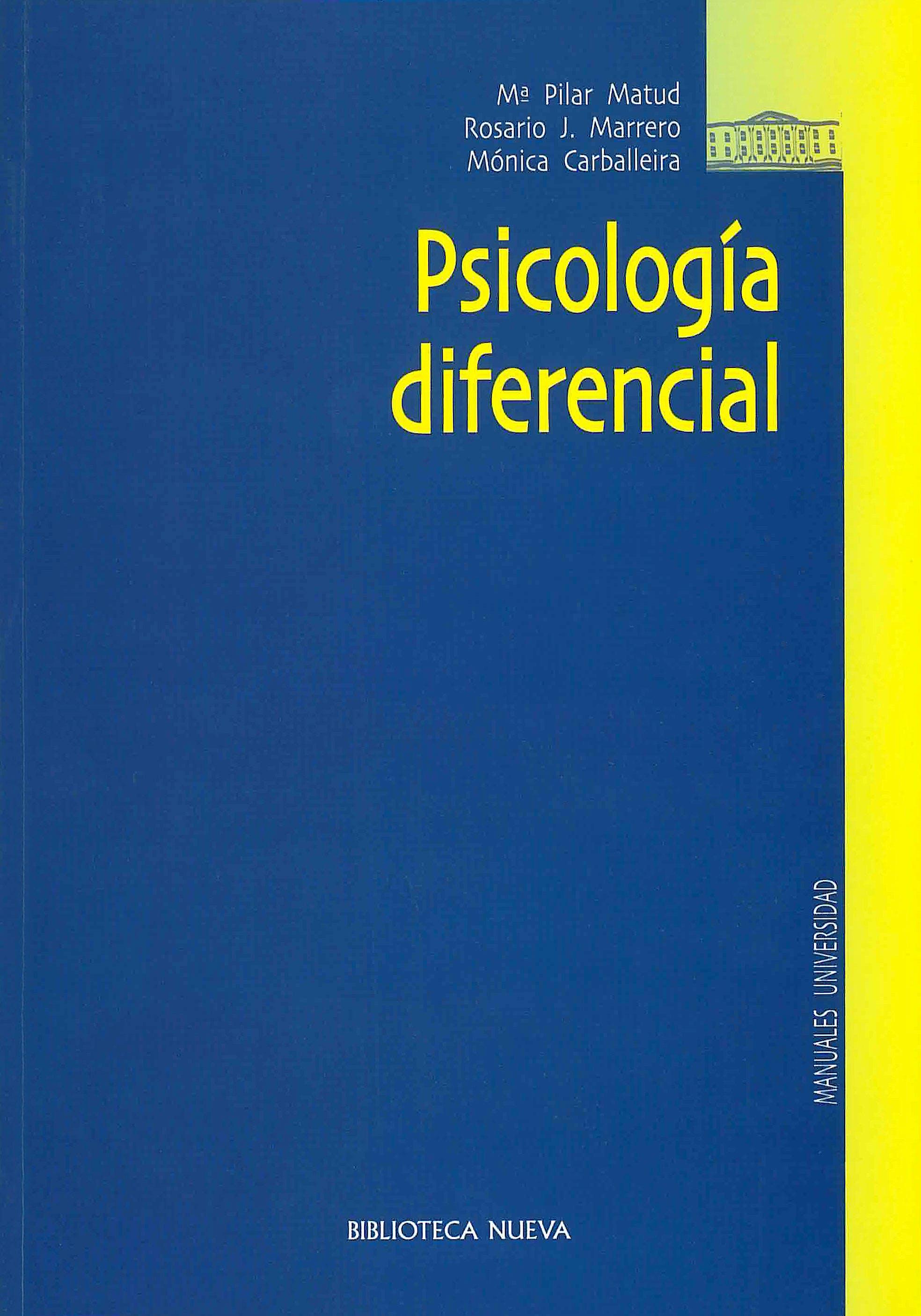 Portada del libro 9788497422727 Psicología Diferencial
