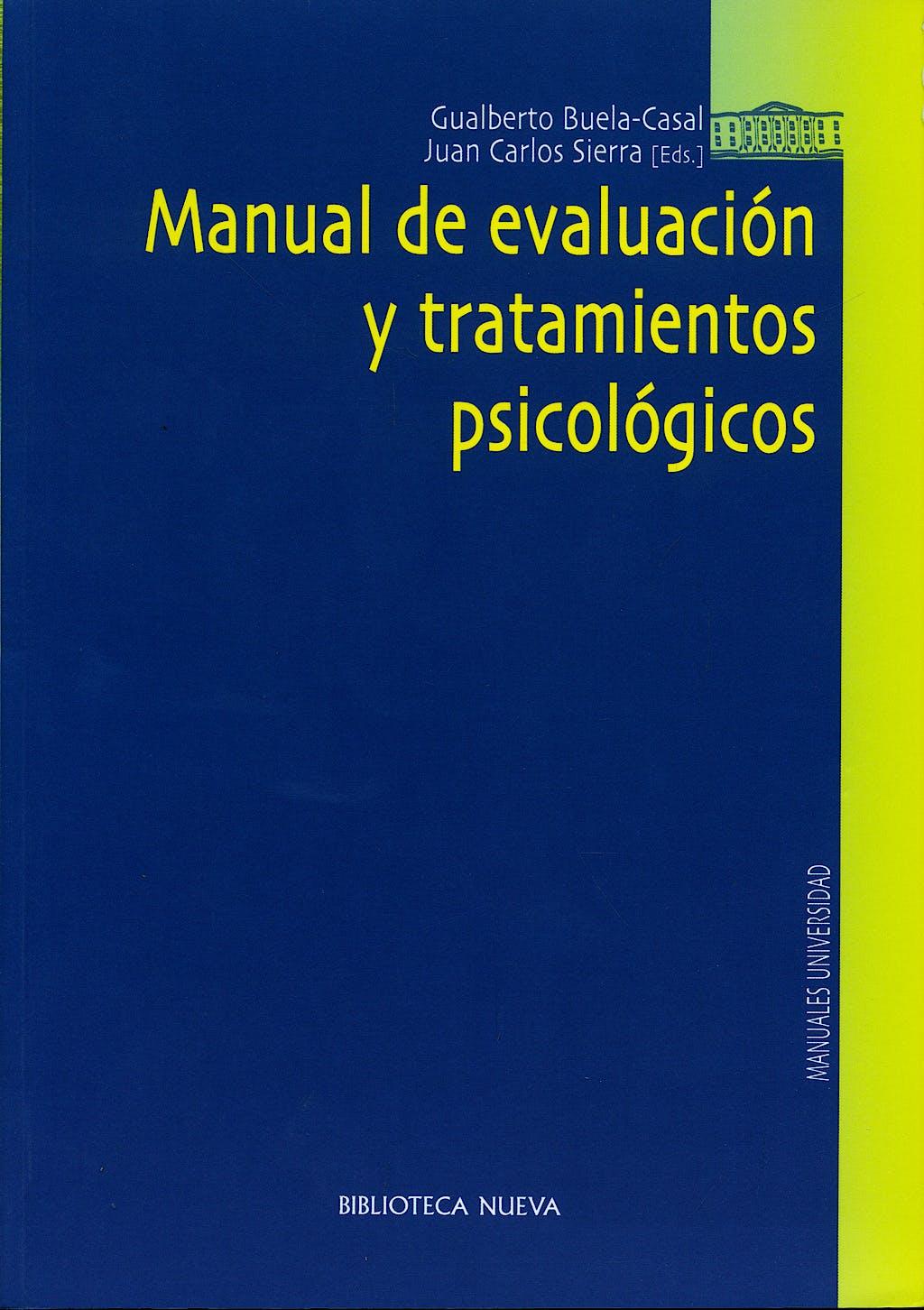 Portada del libro 9788497423281 Manual de Evaluacion y Tratamientos Psicologicos