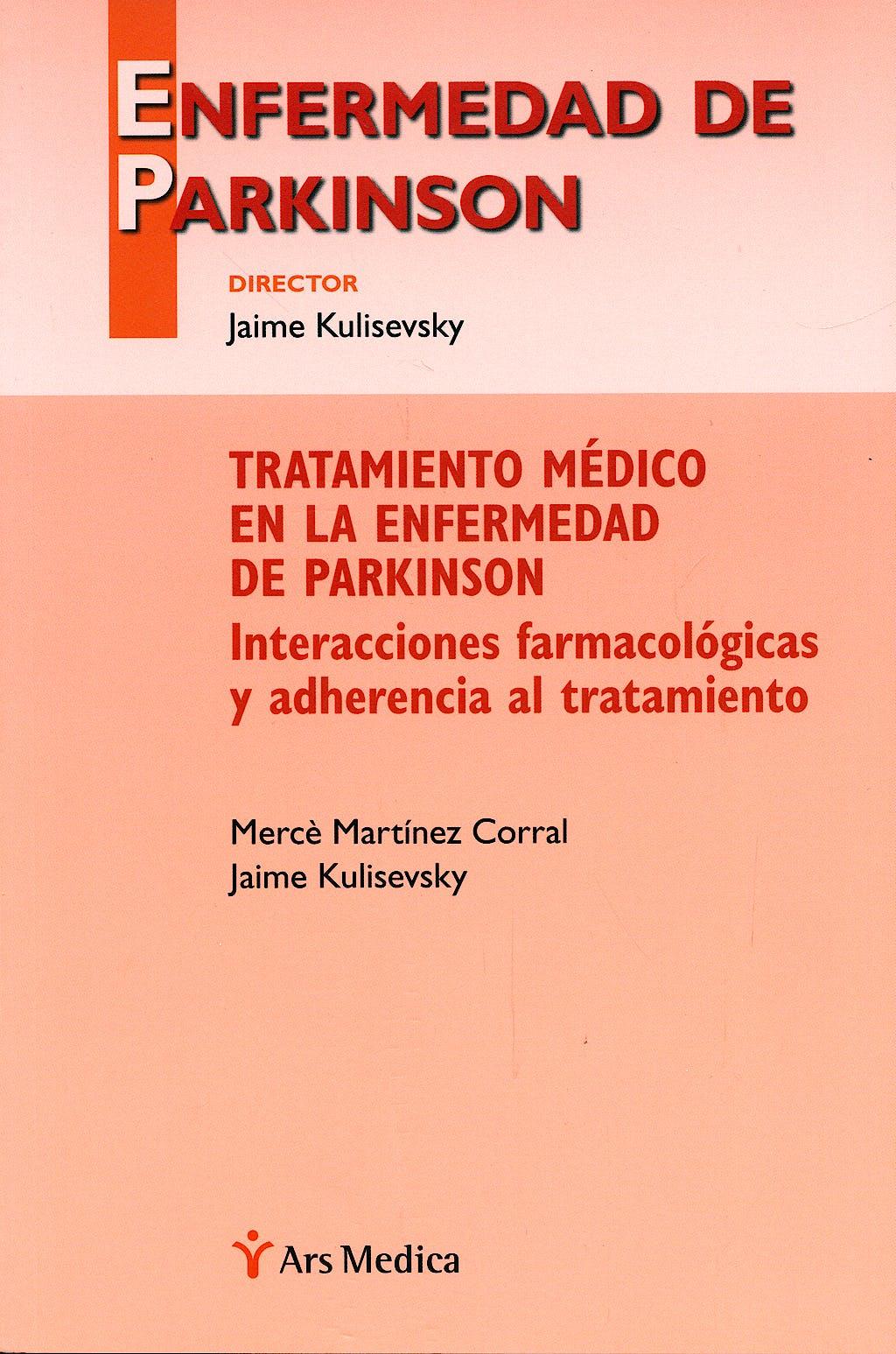 Portada del libro 9788497514491 Tratamiento Medico en la Enfermedad de Parkinson. Interacciones Farmacologicas y Adherencia al Tratamiento