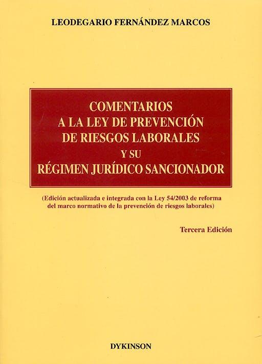 Portada del libro 9788497723138 Comentarios a la Ley de Prevencion de Riesgos Laborales y Su Regimen J