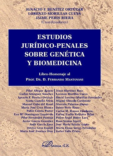 Portada del libro 9788497727785 Estudios Juridico-Penales sobre Genetica y Biomedicina