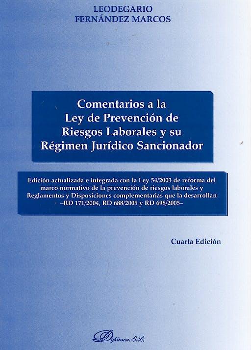 Portada del libro 9788497728492 Comentarios a la Ley de Prevención de Riesgos Laborales Y