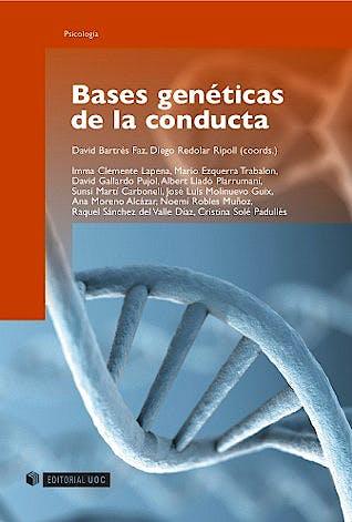 Portada del libro 9788497887717 Bases Geneticas de la Conducta