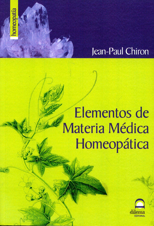 Portada del libro 9788498271256 Elementos de Materia Medica Homeopatica