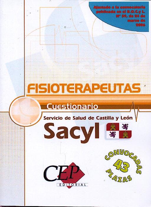 Portada del libro 9788498339505 Cuestionario Oposiciones Fisioterapeutas Servicio de Salud Castilla y Leon